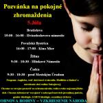 Pozvánka na pokojné zhromaždenia 5.7.2014